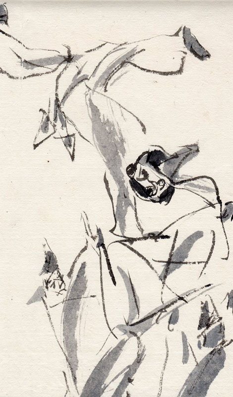 Kenji Takami Kagura Sketches -Along with Old Pottery and Statue of Japanese God in Kyushu