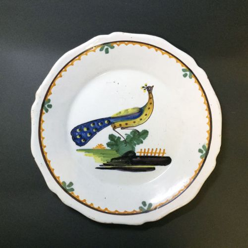 Holland Dish with Peacock Design : Charity Auction