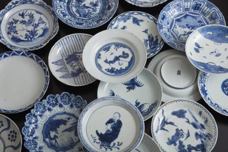22nd Anniversary + New Open of T.EDO INOUYE & SON oriental art at Kyobashi<br />Seventy Seven of Seven-sun Size Kosometsuke Dishes