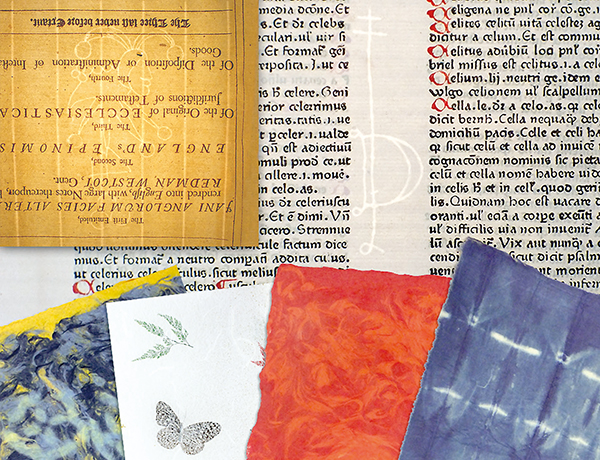 Handmade Papers & Historical Watermarks - Dard Hunter-, Laid paper-, & Washi paper sample books